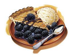 Marionberry Pie Ice Cream